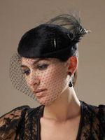 Comment faire mariage noir Cage Voile Chapeaux