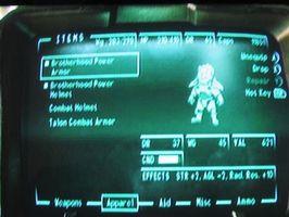 Comment obtenir Puissance Armure dans Fallout 3