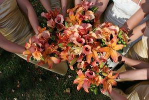 Vs frais Bouquets de mariage en soie