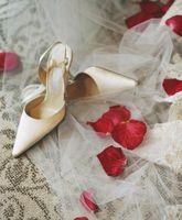 DIY Lace & cristal chaussures de mariage