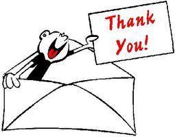 Comment une personne Ecrire une note de remerciement?