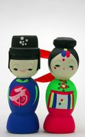 Vêtements de mariage traditionnelle coréenne