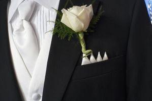 Tissu de mariage Boutonnière DIY