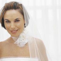 Coiffures de mariée avec le voile sur un Peigne