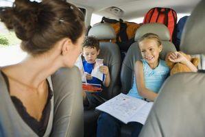 Idées pour les longues randonnées dans la voiture avec les jeunes enfants