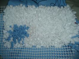 Comment faire un tapis de chiffon pelucheux