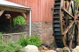 Comment une roue d'eau ne se soulève du poids?