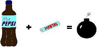 Comment faire un Pepsi Diète et Mentos Bombe