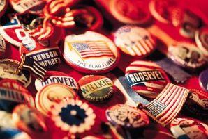 Comment recueillir des boutons de la campagne présidentielle
