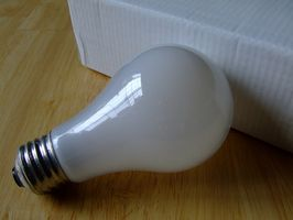 Artisanat de vacances avec des ampoules