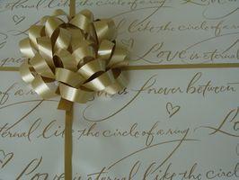 Montant typique dépensé pour des cadeaux de mariage