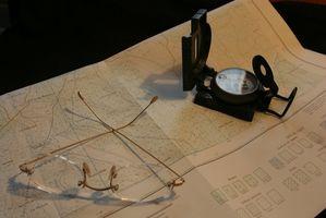 Comment identifier Hilltops sur une carte topographique