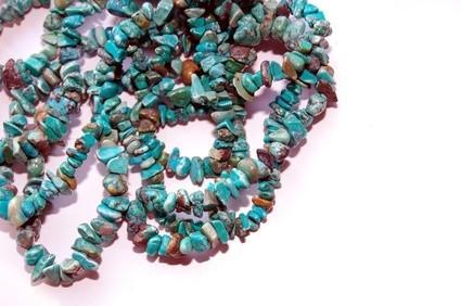 Différents types de pierres turquoise