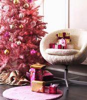 Comment couper un arbre de Noël Lumières Avec Rose