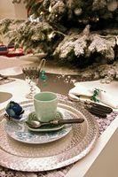 Des idées pour décorer tables pour le dîner Chirstmas