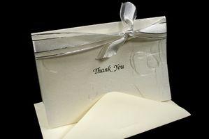 Comment écrire vous remercient des cartes pour la garde d'enfants