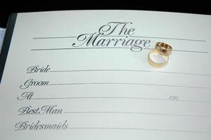 Informations sur les licences de mariage en Caroline du Nord