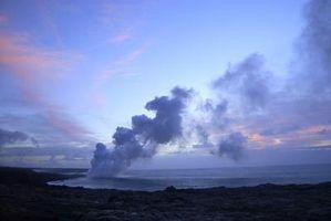 Eruption volcan de volume pour un projet scientifique