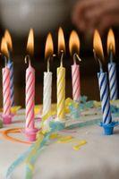 L'histoire des bougies d'anniversaire
