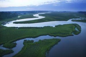 Comment les cours d'eau et rivières provoquent l'érosion et des dépôts?