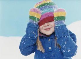 Activités d'hiver d'âge préscolaire à l'aide des noms des enfants