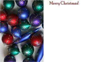 Comment imprimer sur des cartes de Noël Blank