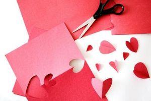 Valentine Artisanat avec contact papier