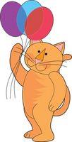 Fournitures de fête d'anniversaire de chat pour les enfants