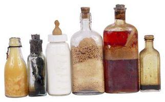 Comment organiser des bouteilles en verre anciennes