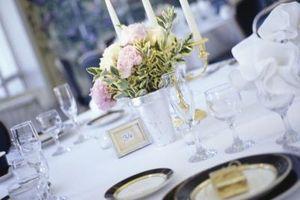 La place des paramètres pour une réception de mariage