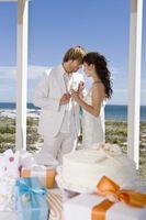 Conteneur ou boîte de gâteau de mariage de congélation