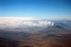 Les principales parties d'un volcan