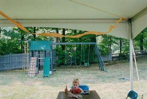 Comment décorer une tente extérieure Avec Tulle pour une partie Princesse