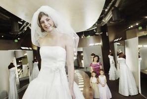 Comment obtenir les rides d'une robe de mariée Polyester