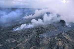 Quels sont les résultats d'une éruption volcanique?