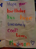 Douceurs d'écrire dans une carte d'anniversaire