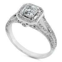 Comment trouver un diamant bague de fiançailles à bas prix Asscher Cut
