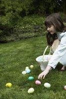 Quelles sont les choses à utiliser pour une chasse aux œufs de Pâques?