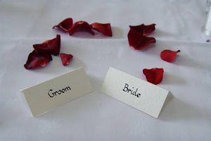 Etiquette pour les programmes de mariage