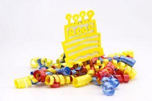 Libellé pour les Premières Birthday Party Invitations